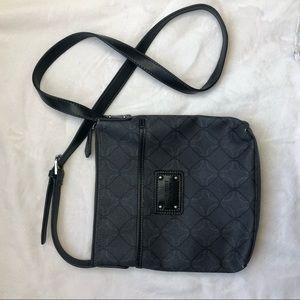 Nine West long strap grey black purse